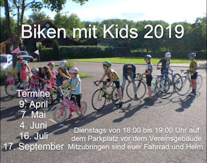 Biken mit Kids des RSV Edelweiß Oberhausen am 9. April 2019